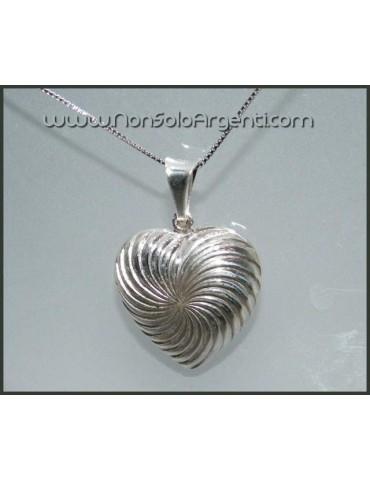 Argento 925 : Collana veneziana con  ciondolo a cuore