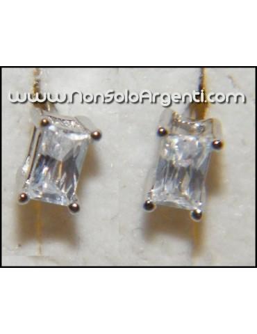 Orecchini NAVETTE in argento 925 e Zirconia