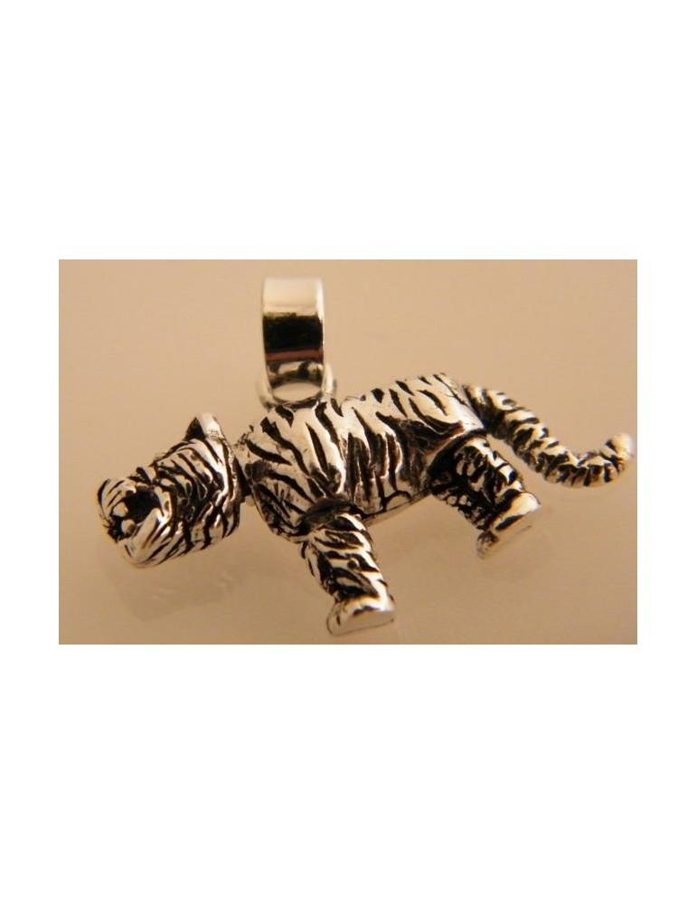 Ciondolo Argento 925 : Ciondolo Tigre elementi mobili