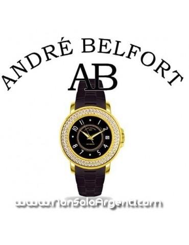 André Belfort Aphrodite dorato Diamanti e Zirconia Cinturino nero