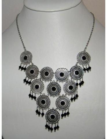 Bigiotteria : Collana Filigrana con ciondolini di perline e strass
