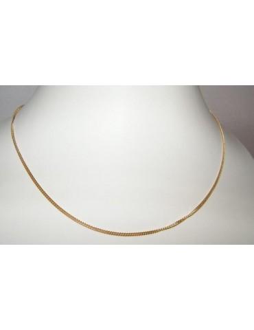 Girocollo maglia grumetta Diamantata Argento 925 placcata oro 750/oo