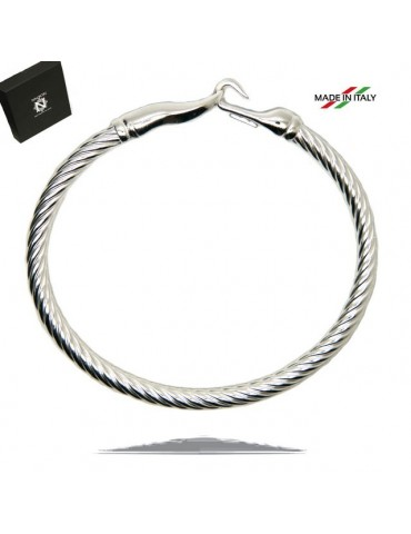 NALBORI Cable bracelet with rigid cable with 18cm hook