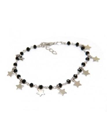 NALBORI Bracciale da donna in Argento 925 ciondoli stelle charm