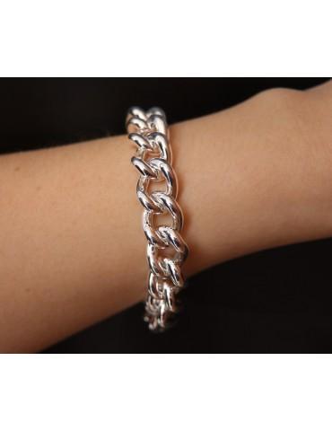 NALBORI bracciale o collana grumetta 12,5mm grande argento 925