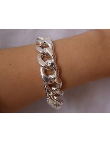 NALBORI bracciale o collana grumetta 17,5mm grande argento 925 diamantata