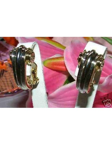 earrings costume jewelery clips curl for women silver and gold plated