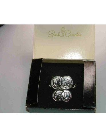 vintage brooch clip for scarf or stole SARAH COVENTRY original silver tone