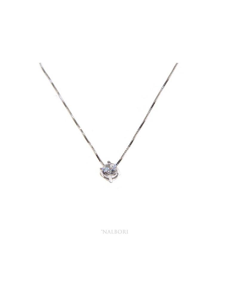 Collana Collier donna pendente passante punto luce griffe 5 mm