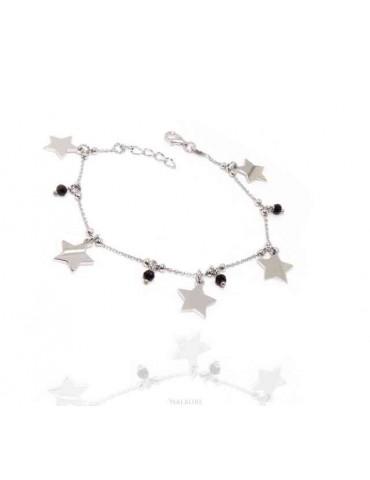 NALBORI Bracciale da donna in Argento 925 con ciondoli di stelle