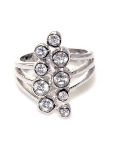 anello argento 925 grappolo...