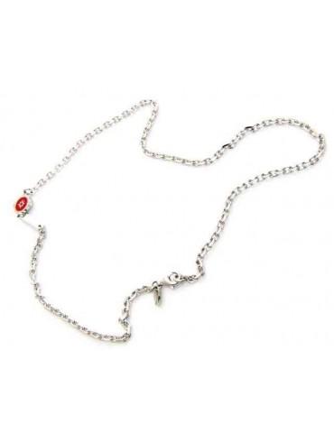 collana argento 925 rosa...