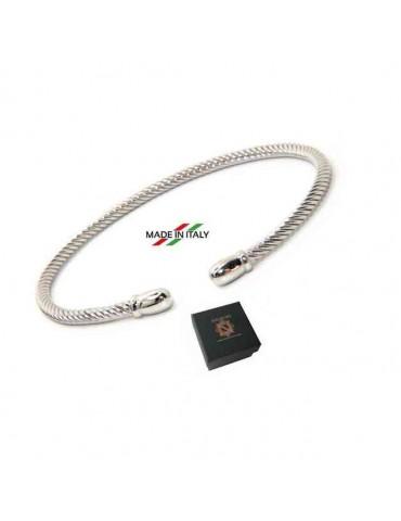 NALBORI Cable open rigid bracelet with knob