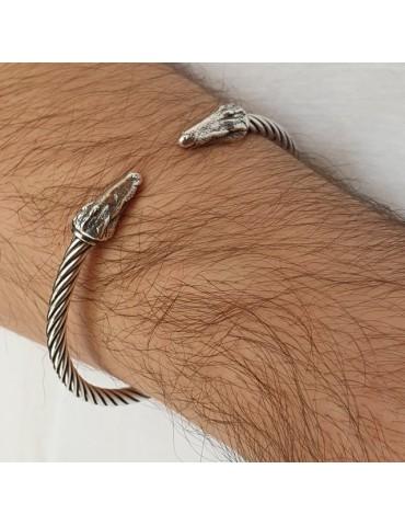 Cable bracciale argento 925 con coccodrillo - N1404  NALBORI