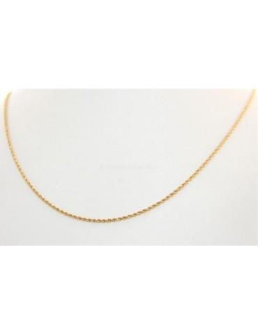 Acciaio : Collana uomo / donna Stainless Steel silver oro dorato cavetto ritorta 60 cm x 2 mm