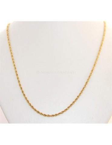Acciaio : Collana uomo / donna Stainless Steel silver oro dorato cavetto ritorta 60 cm x 3 mm