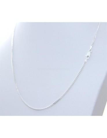 Girocollo Grumetta Diamantata catenina in ARGENTO 925 chiaro da 2