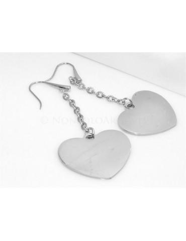 Acciaio 316L  : Esclusivi orecchini con ciondoli a cuore grande