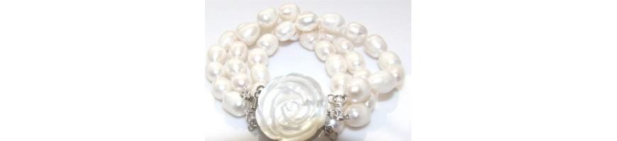 Categoria Pearl bracelet - NonSoloArgenti : Argento 925 : Bracciale donna mega perle naturali barocche scaramazze , Bracciale don...