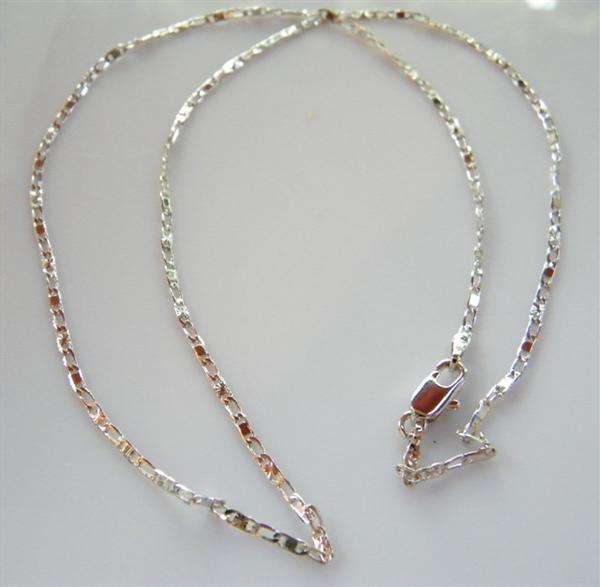 nuovo arrivo 405e4 6dd7c Bigiotteria : collana diamantata uomo o donna 1,5 mm senza ciondolo Lamin  ORO BIANCO 18k Gold PLATED 45 cm