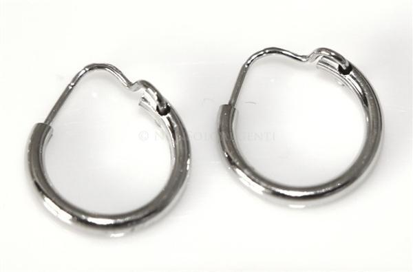 Sito ufficiale ultimi progetti diversificati stile alla moda Argento 925 : orecchini uomo donna anelle cerchi cerchietti classici varie  misure